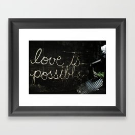 love is possible Framed Art Print