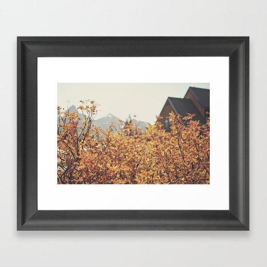 Mountain Lodge Framed Art Print