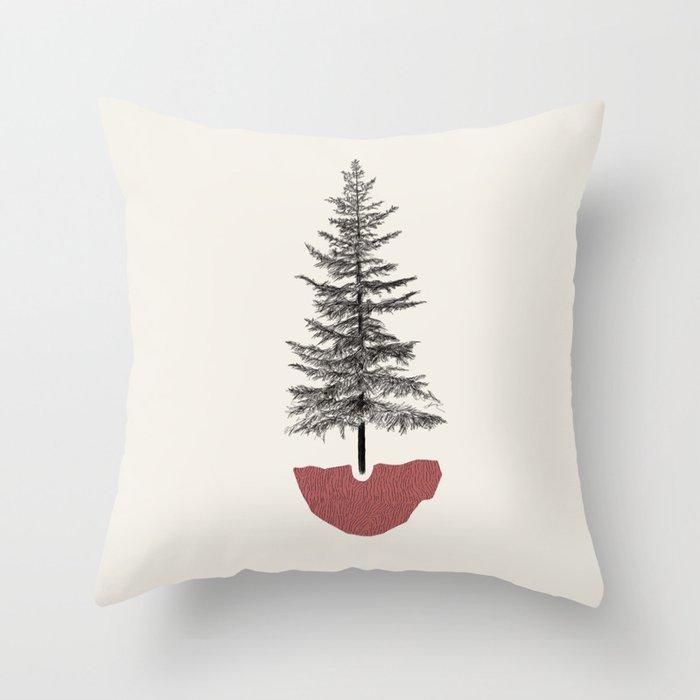 Fir Pine Throw Pillow