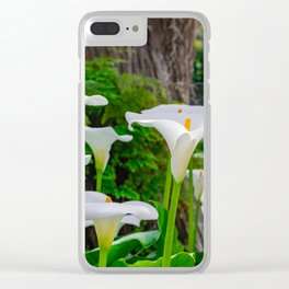 White calla lily Clear iPhone Case