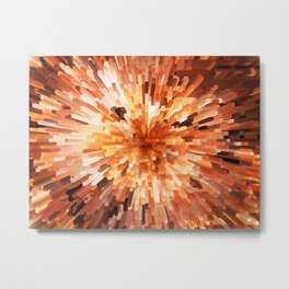 Orange Burst Metal Print