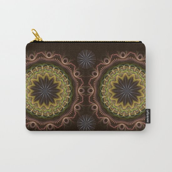 Groovy fractal mandala with tribal patterns Carry-All Pouch