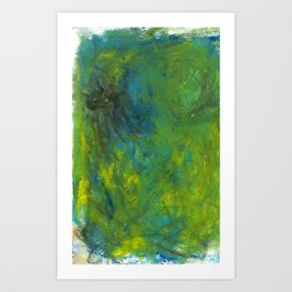 abstract ear grass sunshine - mixed media Art Print