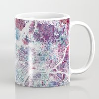 vancouver Mugs featuring Vancouver map by MapMapMaps.Watercolors