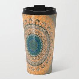 Bohemian Orange Travel Mug