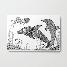 Dolphins just want to have fun Metal Print