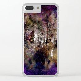 Wolf - Nebula Clear iPhone Case