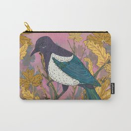 Magpie and Maple Carry-All Pouch