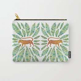 Jaguar – Green Leaves Carry-All Pouch