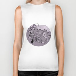Energy Vampires Purple Biker Tank
