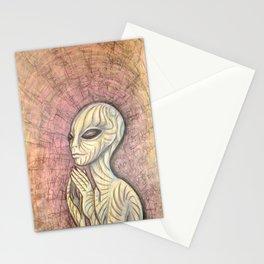Alien Prayer Stationery Cards