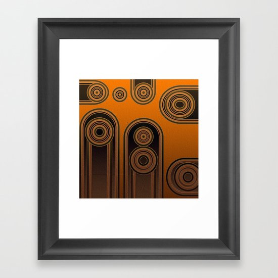 retro shapes Framed Art Print