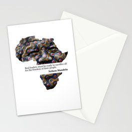African Leaders - Nelson Mandela Stationery Cards