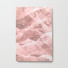 Rose quartz stone Metal Print