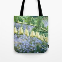 fairies Tote Bags featuring Fairies' necklace by Dominique Gwerder