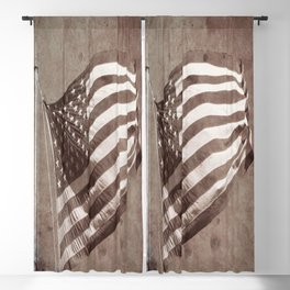 U.S Flag Vintage Blackout Curtain