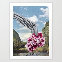 Lake Deposit Art Print