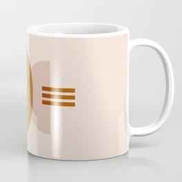 Amber Abstract Half Moon 3 Coffee Mug