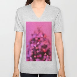 So this is Christmas in pink Unisex V-Neck