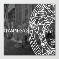 versace Canvas Prints featuring versace 3 by Beauti Asylum
