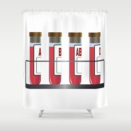 Blood Group Samples Shower Curtain