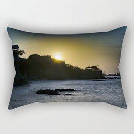 Sunset Scene at La Libertad Malecon, Santa Elena, Ecuador Rectangular Pillow