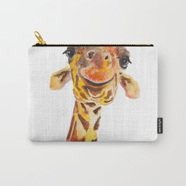 Nosey Giraffe ' Jo ' by Shirley MacArthur Carry-All Pouch
