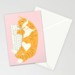 KEYBOARD CAT Stationery Cards