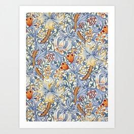 William Morris Golden Lily Victorian Wallpaper Art Print