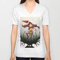 over the garden wall V-neck T-shirts featuring Over the garden wall by Itzitxou