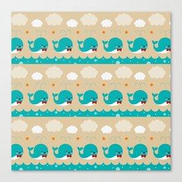 Whale Squirts Canvas Print