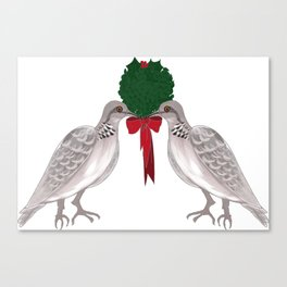 12 Days of Christmas Two Turtle Doves Canvas Print