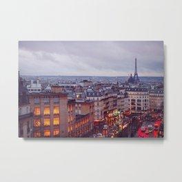 Rainy Paris. Metal Print