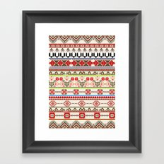 Traditional pattern Framed Art Print
