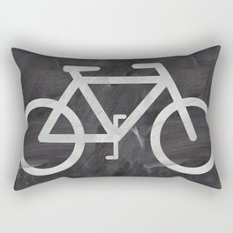 Bicycle on chalkboard Rectangular Pillow