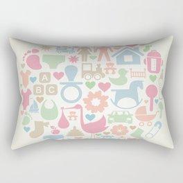 Baby a sphere Rectangular Pillow