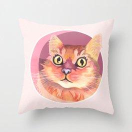 Miss Meowgi Throw Pillow