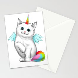 Cat unicorn Stationery Cards