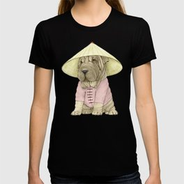 Shar Pei on the Great Wall (China) T-shirt
