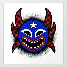 Vejigante Mask Art Print