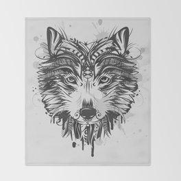 Wolf head Throw Blanket