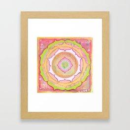 Pink Lotus Mandala Framed Art Print