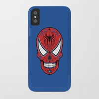 superheros iPhone & iPod Cases featuring Spidey Sugar Skull by Clark Street Press