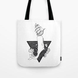 Whale Wreck Tote Bag
