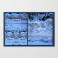 geology Canvas Prints featuring The Geology of Snow by World Raven