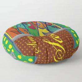 Pop art: Sardines Floor Pillow