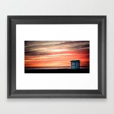 crimson skies Framed Art Print
