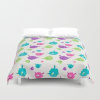 monsters Duvet Covers featuring Monsters by Earl Foolish