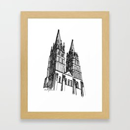 church of the survivor Framed Art Print