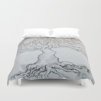 pen Duvet Covers featuring Pen Tree by Taylor Rae